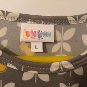 Lularoe Maria New without tags gray yellow cream